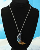 crescent moon necklace on a 18 inch chain