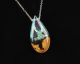 Silver Crystal, White Aurora Opal Fantasy Necklace
