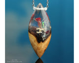 resin and wood ocean terrarium necklace