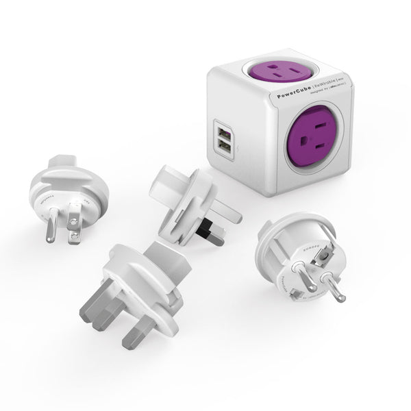 Travel plugs 4x