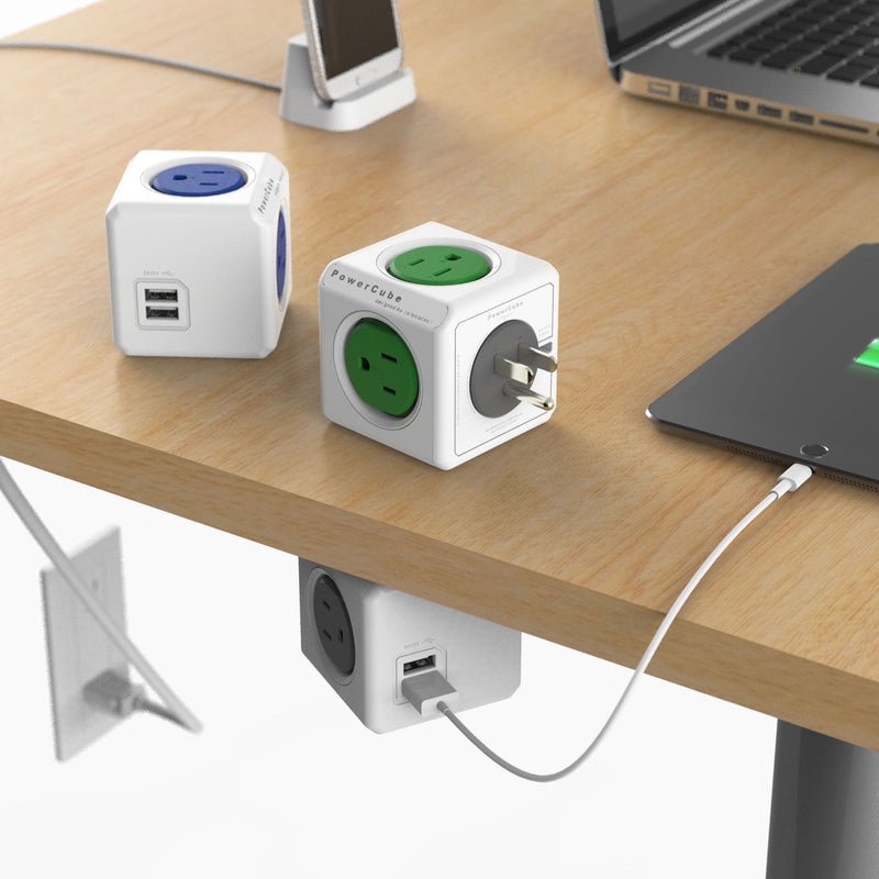 Allocacoc PowerCube® |Extended USB| Surge 5ft.