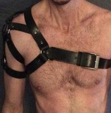 Faux Leather Harness with Shoulder Design