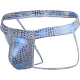 Snake Skin or Glitzy Leather Look Jock Strap and Thong
