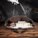 Genuine Leather Black Briefcase