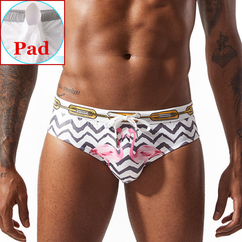 Fashionable Push Up Swimming Briefs