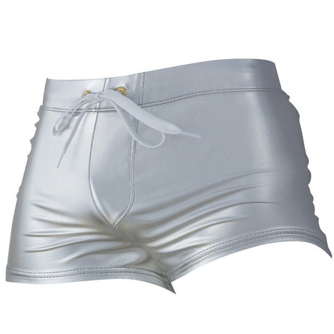 AUSTINBEM Metallic Silver Swimming Trunks