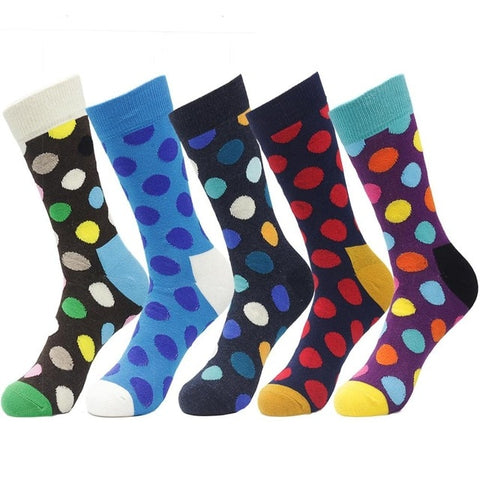 5 Pairs Casual Cotton Socks - Various Designs