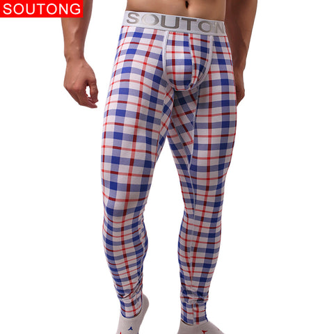 Long Johns Cotton Plaid Check