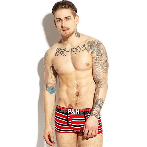 Pink Hero Boxer Briefs in Stripes