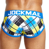 JOCKMAIL Briefs with checkered Pattern Design