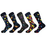 5 Pairs Funky Cotton Socks - Various Designs
