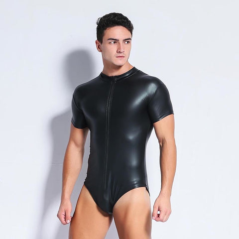 Black Singlet with Boat Neck Collar