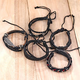 Adjustable Trendy Multi Layer Bracelet Various Materials