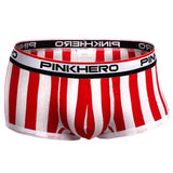 PINK HERO Comfortable Cotton Boxer Briefs with Vertical Stripes