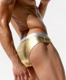 AUSTINBEM Metallic Swimming Briefs