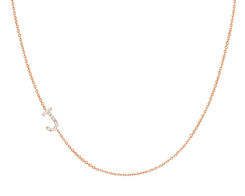 Diamond Asymmetrical initial Necklace Joolz Collection