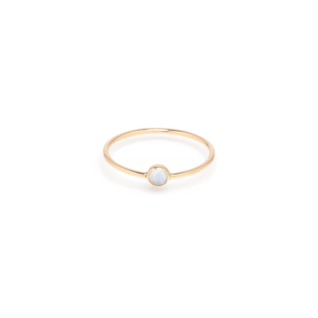 Opal bezel ring by Zoe Chicco