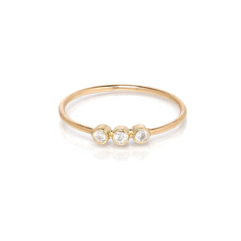 3 Diamond ring by Zoe Chicco