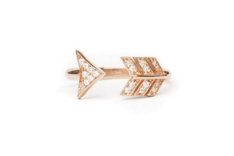 Arrow knuckle ring by Alex Mika