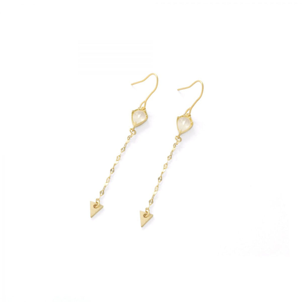 Arrow drop earrings by Tai Jewelry