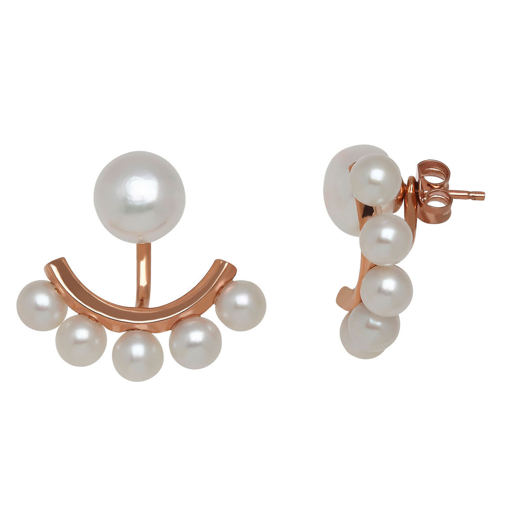 Pearl jacket earrings by Honora