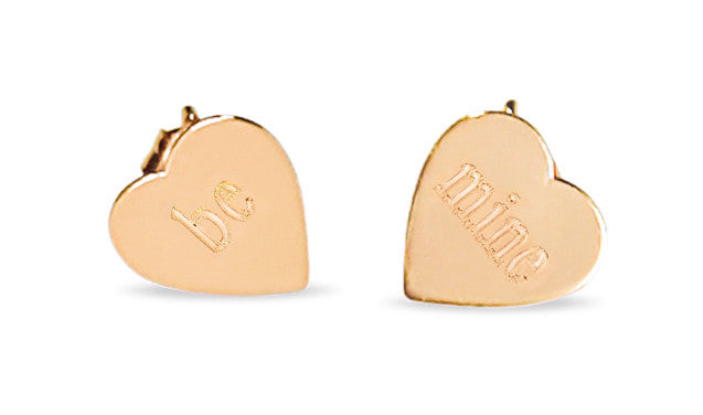 Petal stud Be Mine earrings by Ginette NY