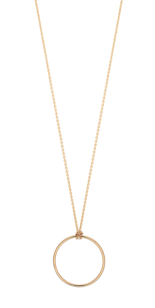 Mini circle necklace by Ginette NY