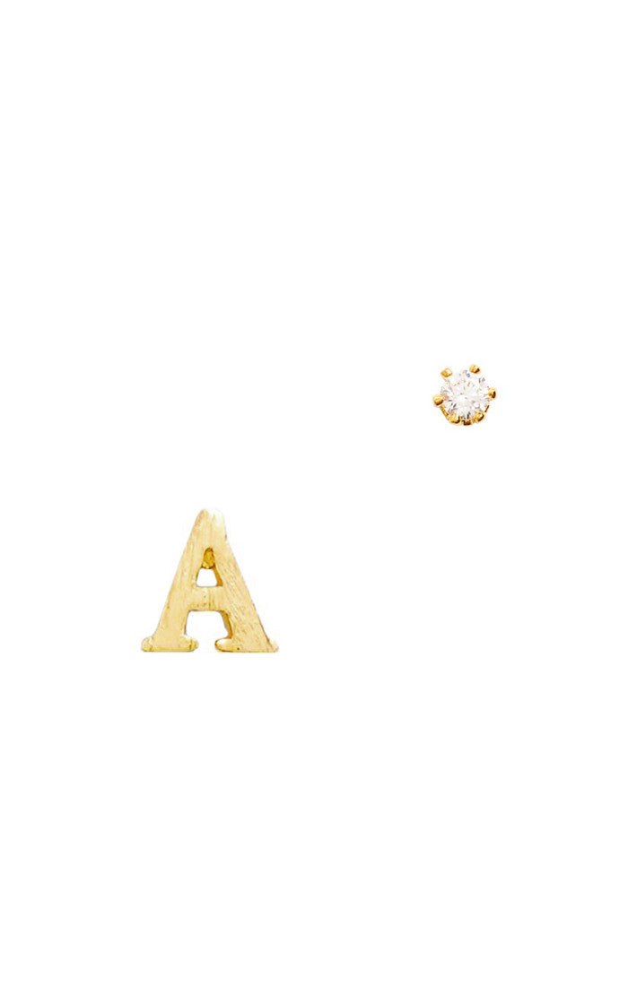 Gold Initial Earrings by Tai Jewelry