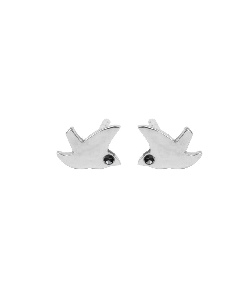 Dove Black Diamond stud by Blair Lim NY