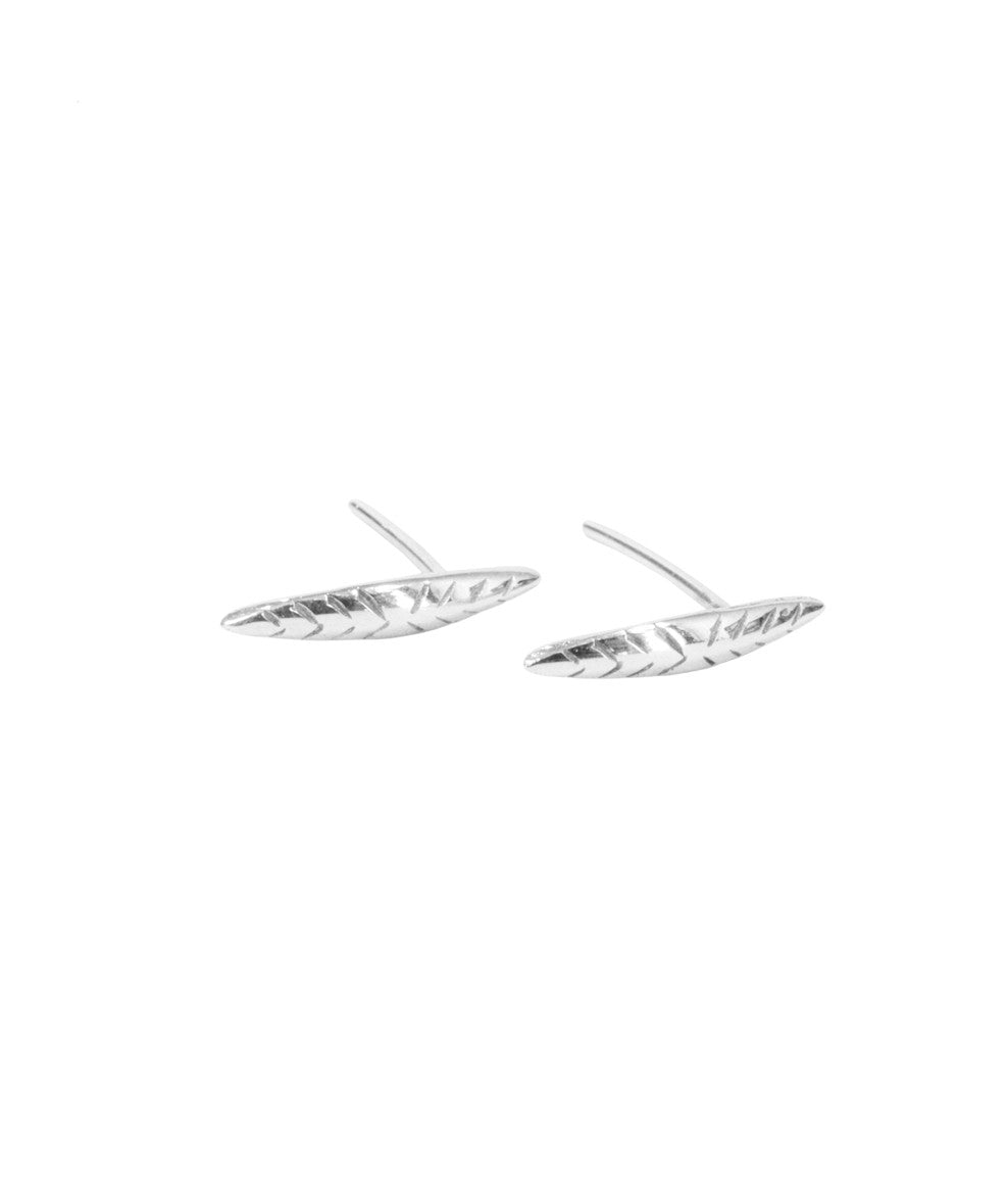 Leaf stud earrings by Blair Lim NY