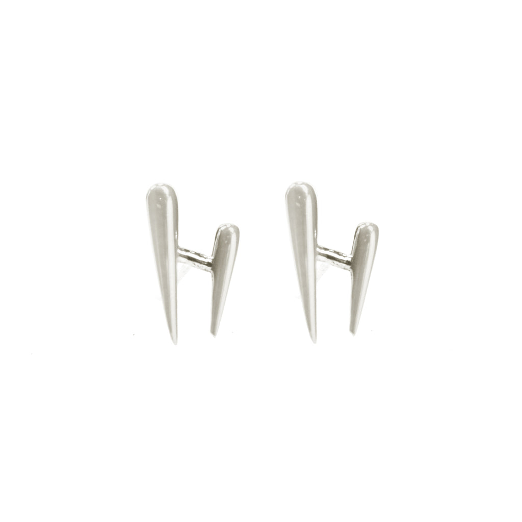 Houndstooth stud earrings by Blair Lim NY
