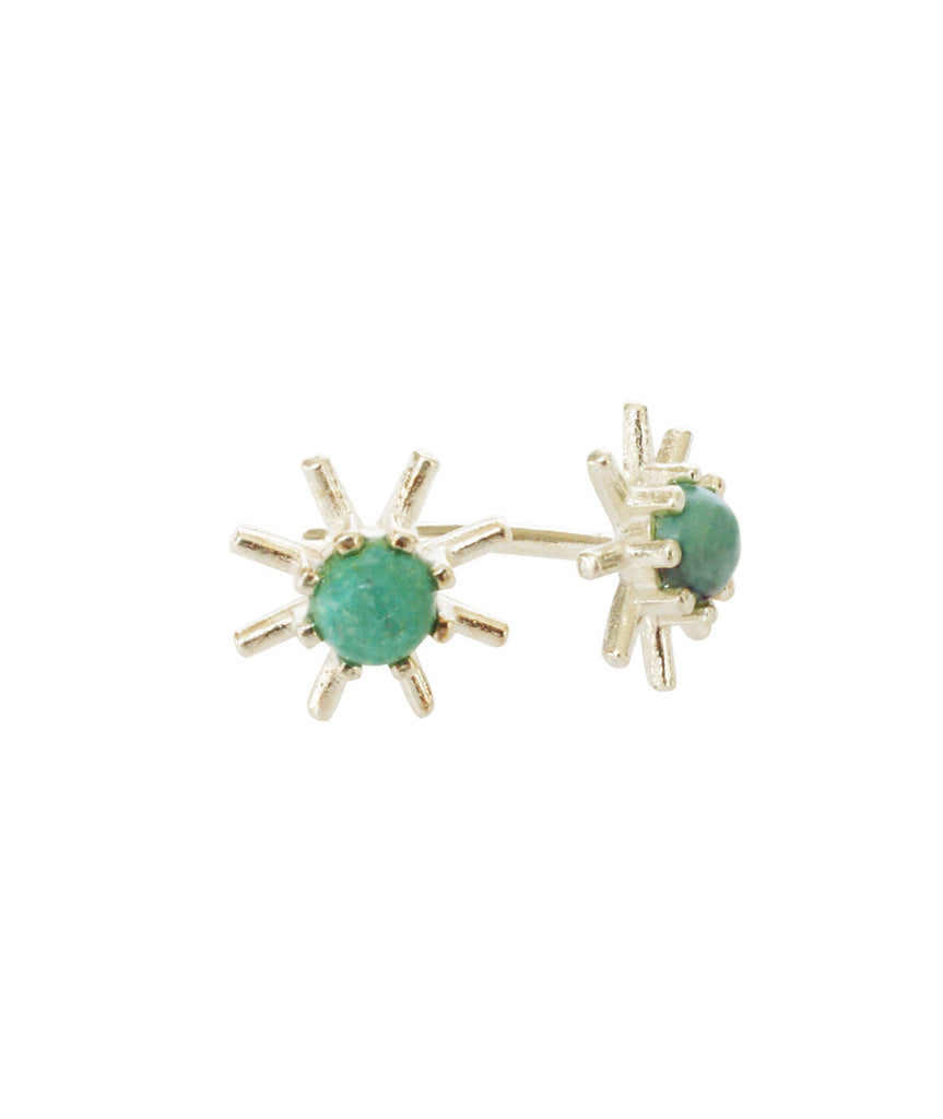 Flower turquoise earrings by Blair Lim NY