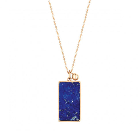 Ever Lapis rectangle necklace by Ginette NY