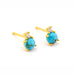 Turquoise circle post earrings by Tai Jewelry