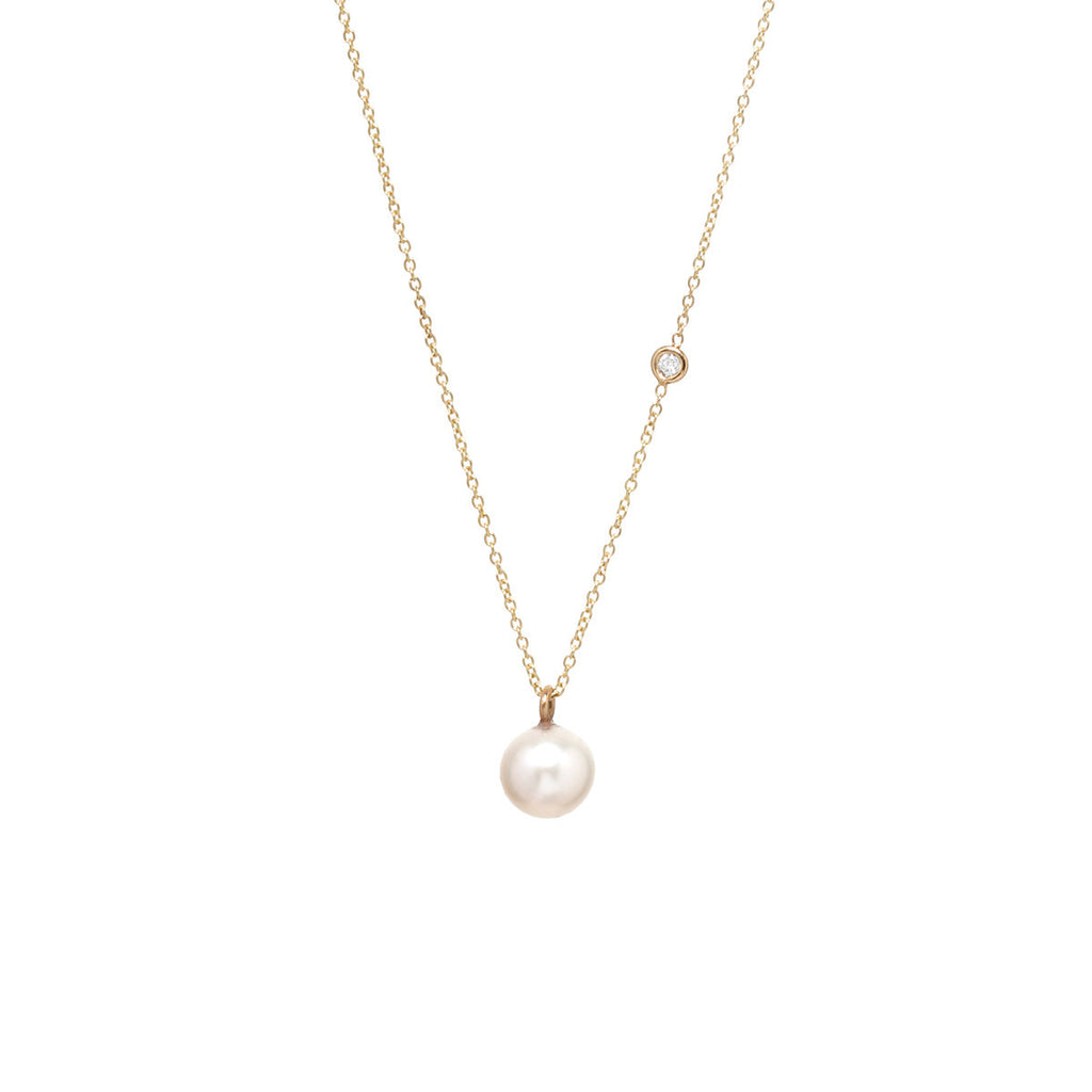 Pearl & Diamond necklace by Zoe Chicco