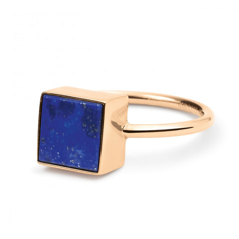 Ever Lapis square ring by Ginette NY