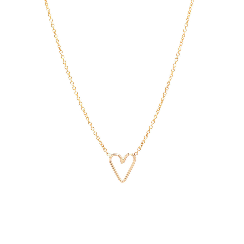 Tiny open heart necklace by Zoe Chicco