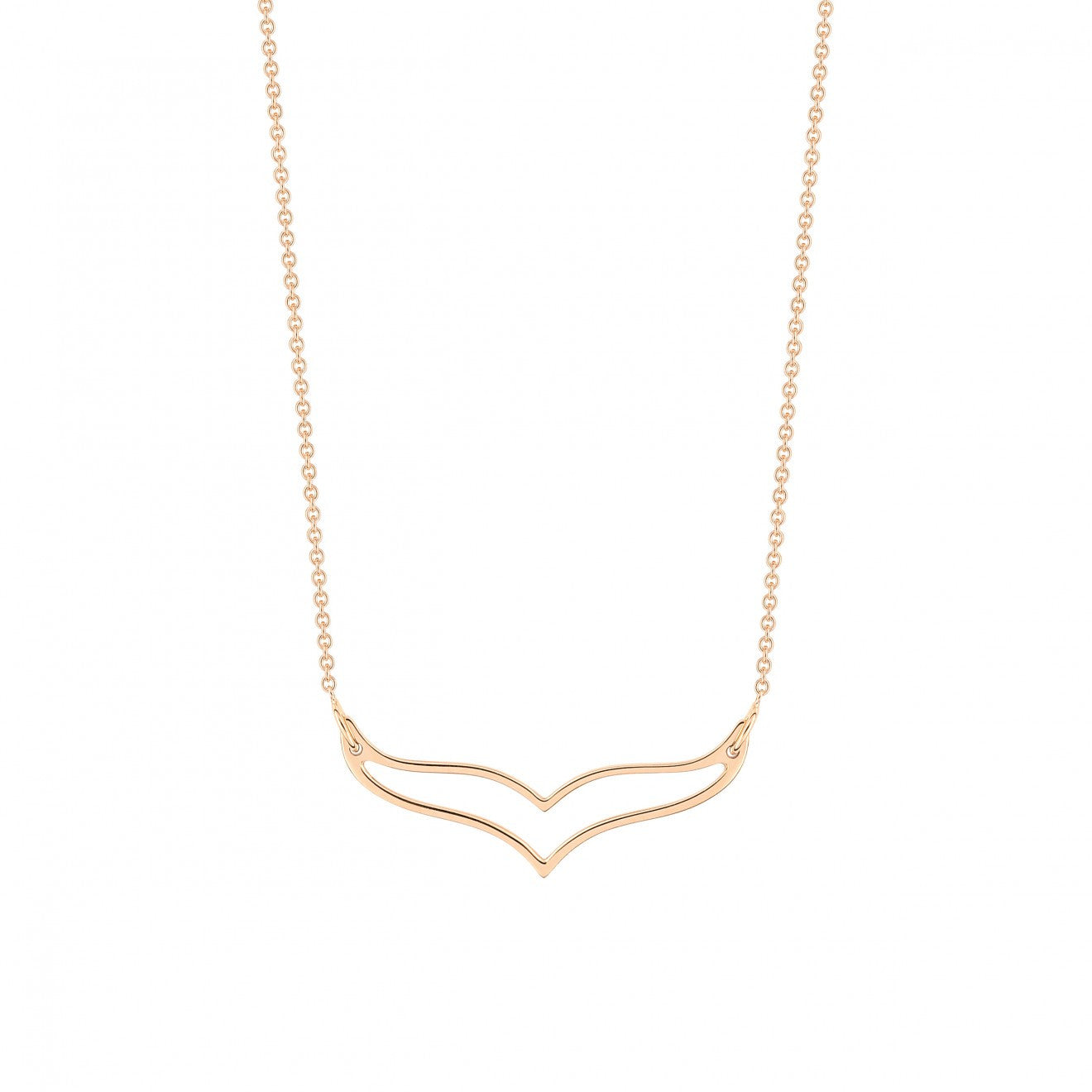 Ginette NY Mini Wise 18-karat rose gold necklace vxoQAg