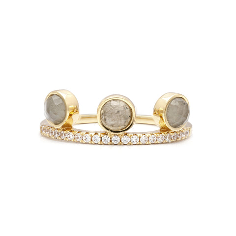 Moonstone Circle Ring by Melanie Auld