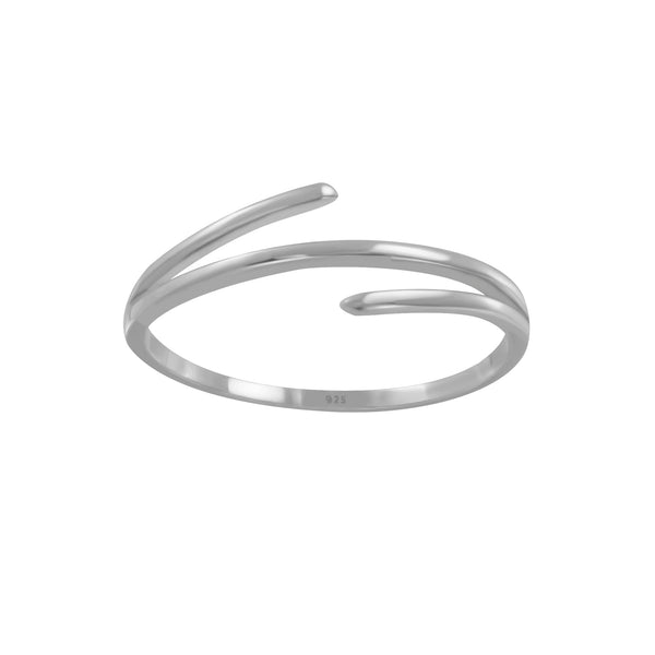 Simple Triple Bar Sterling Silver Band Stacking Ring - I love silver jewellery