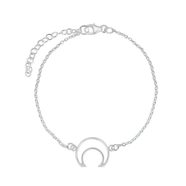 Moon Outline Sterling Silver Bracelet - I love silver jewellery