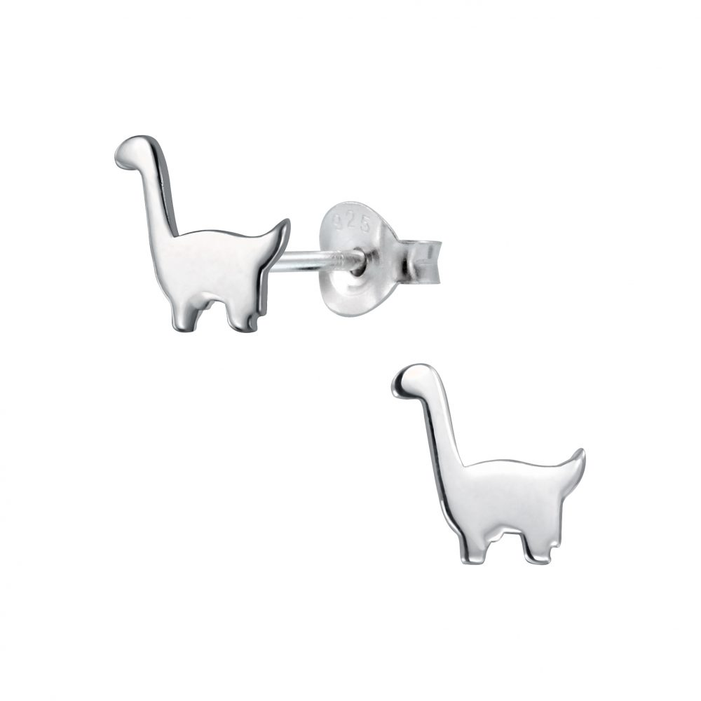 cc9531c98 Diplodocus Dinosaur Sterling Silver Stud Earrings - I love silver jewellery