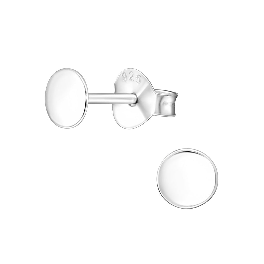 Simple Round Sterling Silver Tiny Stud Earrings 4mm - I love silver jewellery