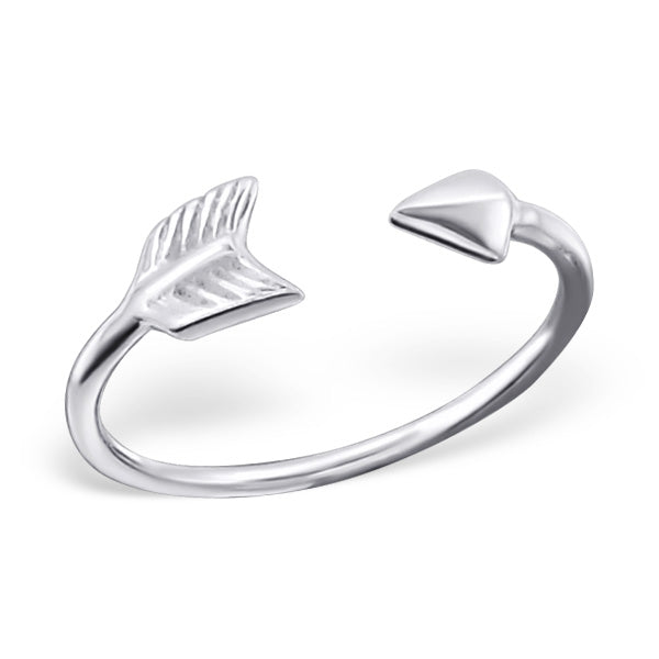 Arrow Sterling Silver Adjustable Toe Ring - I love silver jewellery