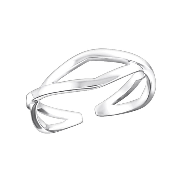 Open Twist Sterling Silver Adjustable Toe Ring - I love silver jewellery