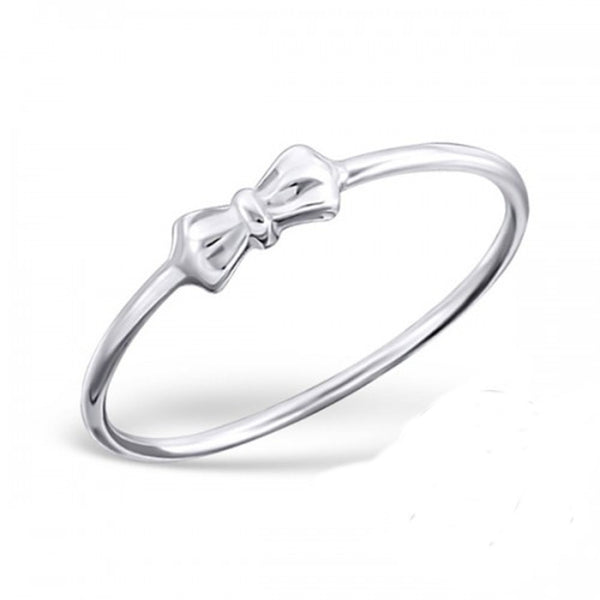 Bow Midi Sterling Silver Ring - I love silver jewellery