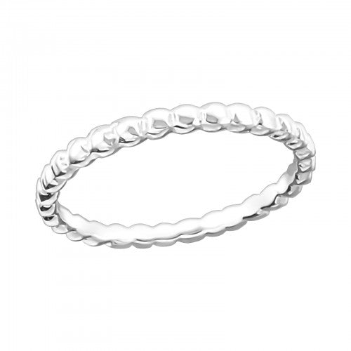 Textured Sterling Silver Band Stacking Ring 2mm - I love silver jewellery