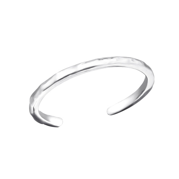 Hammered Sterling Silver Adjustable Toe Ring - I love silver jewellery