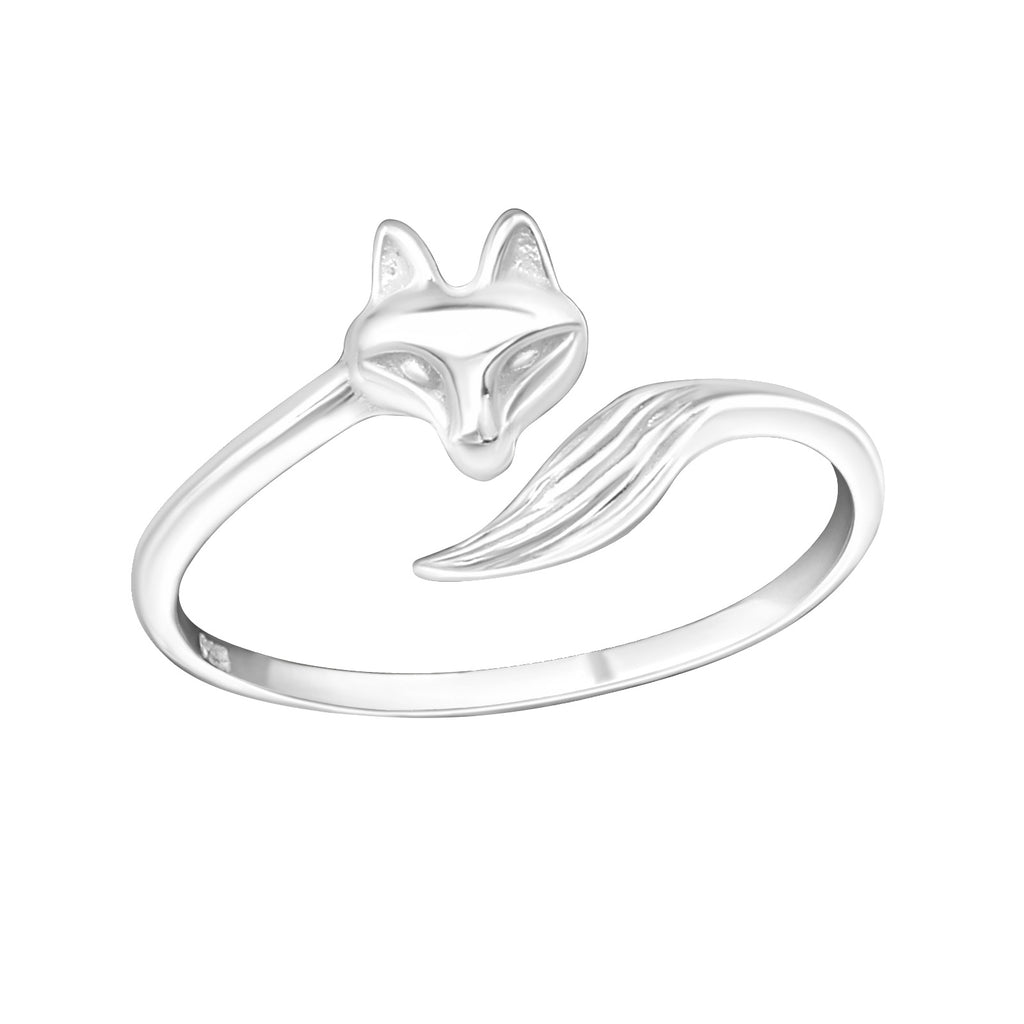 Fox Sterling Silver Midi Ring - I love silver jewellery