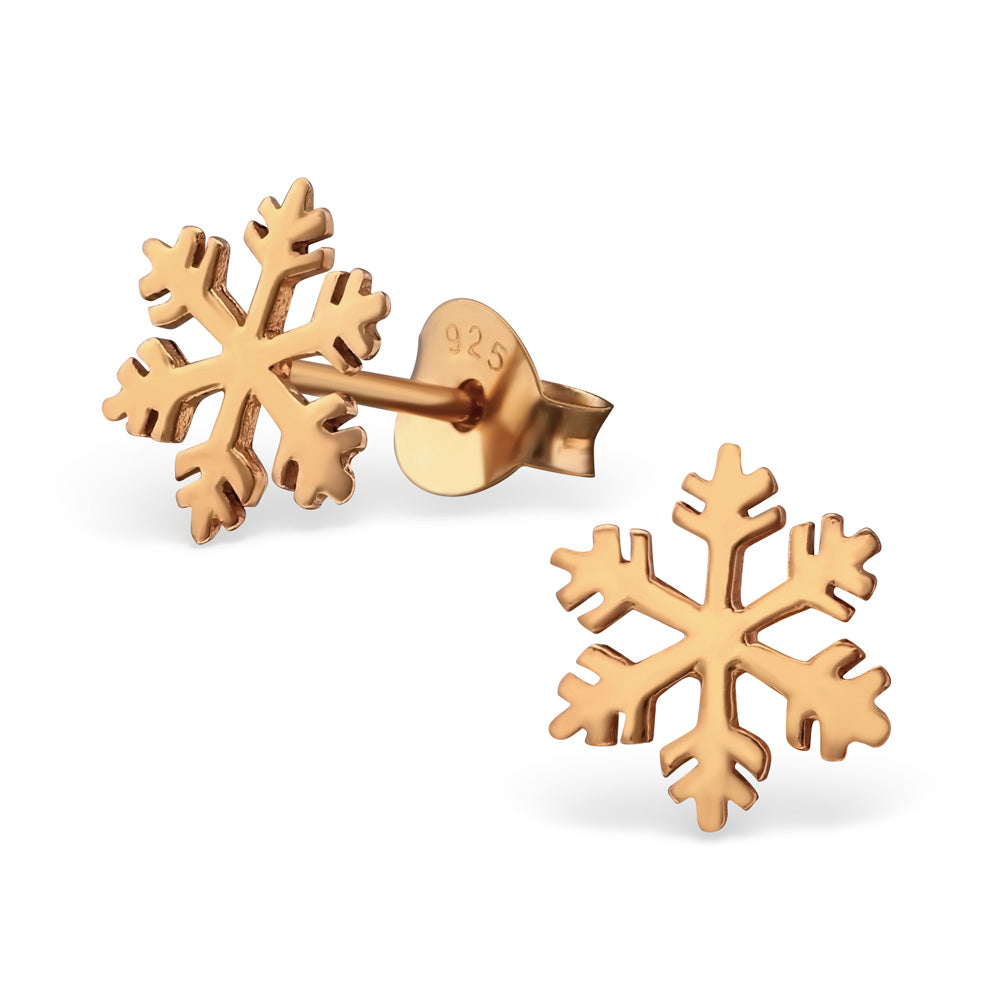 Snowflake Cut Out Christmas Sterling Silver Stud Earrings - I love silver jewellery